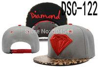Men's and Women's snapback caps Diamond supply hat leopard print leather peak hip hop snapbacks sports hats 8 colors