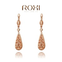 Roxi jewelry fashion earring austria crystal cutout drop rose gold earring stud   2020019280