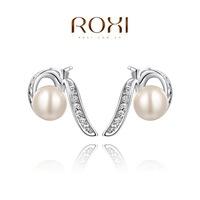 Roxi jewelry fashion earring austria crystal white stud earring  2020049335