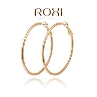 Roxi jewelry fashion earring austria crystal hoop earrings gold plated earrings 2020806385