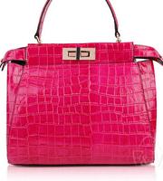 2014 new hot leather handbags leather crocodile pattern paint diagonal portable shoulder bag 27*24*13CM NB142 Y8PA
