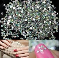 1440pcs 2mm Hot Sale Multicolor Nail Art Tips Crystal Glitter Rhinestone Craft DIY Decoration ss6