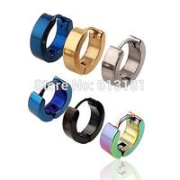 10 Pcs/Lot Medical Steel Titanium Stud Earrings Unisex Jewelry Stainless Steel Fine Needle Earrings Men/Women