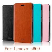 For Lenovo S660 Case,Flip Leather Case For Lenovo S660 Cover Phone Bag Luxury Leather Case For Lenovo S660 Free Shipping