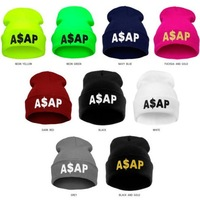 Unisex Hip Hop Beanies Women Knitted Hat Wool Caps ASAP Letter Embroidery Skullies Men Sports Gorro Beanies For Girls Ladies