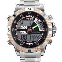 2014 WIEDE WH1104 display LCD backlight dual time Alarm analog digit multi-functional waterproof sport militaly men quartz watch
