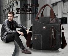 Luxurious quality man messenger bag canvas shoulder bag ipad laptop bag multifunction charming man bag(China (Mainland))