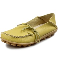 [XDS127]10colors! Women Genuine Leather Mother Shoes Moccasins Women's Soft Leisure Flats Female Driving Shoe Flat Loafers