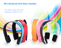 New Headset for iPhone/ iPad2/laptop/PS3 Bluetooth 2ch Stereo Audio Headphone with Microphone