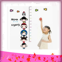 Free Shipping 45*65cm Cartoon Child Height Wall Stickers Room Decoration Wall Stickers Wall Decor