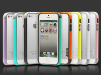 New Bumper case For iphone 5 5g 5s multi-color TPU Bumper frame Case For iphone5s for iphone5 phone case walnutt shell