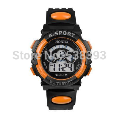 2014 Children watch students,Electronic Table Multifunction Colorful luminous sport Digital watch Birthday Gift+Free shipping(China (Mainland))