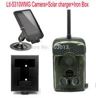 Ltl Acorn 5310WMG 940nm 100 Degree Wide Angle12MP MMS GPRS infrared scouting Trail Hunting Camera+6V Solar Battery+Iron Box