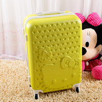 Cartoon luggage universal wheels trolley luggage travel bag 24 20 luggage pull box,girl lovely hello kitty travel luggage,pink