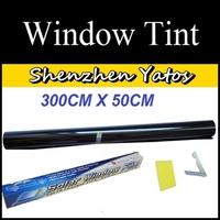 Car Solar Window Tint Film Scratch Resistant Tinting Black 25% 50CM*300CM