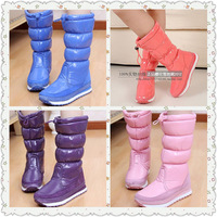 2014winter rubber duck sakura snow boots shoes female waterproof slip-resistant PU japanned leather cotton shoes