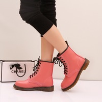 2014 round toe martin boots female low-heeled boots lacing casual street fashion low-heeled fashion boots