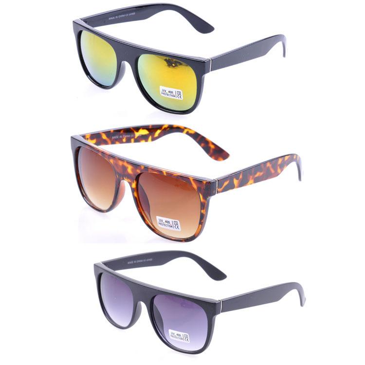 Super Flat Top Sunglasses Black Leather Super Flat Top Sunglasses