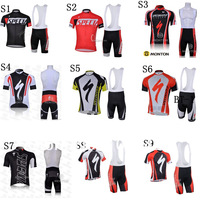 NEW! 2013 Cycling jersey and bib shorts men's sport wear suits bib tight