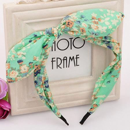 Min. order $10(Mix order) New 2014 Korea Fashion bow bunny ears headband hair accessories hair bands hair jewelry ACO2259(China (Mainland))