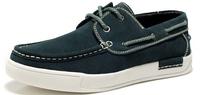 2014 summer new arrival top quality men leather flat shoes british style lace low-cut shoe casual shoes deck shoes platform