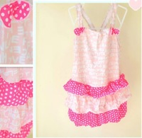 8A10023 time limited high quality pink design for girl kids children bathing baby swimwear kids girl