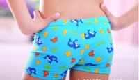 8B30117 Time-Limited 20% discount 1-12  years old  blue color boys swimming trunks for boys , rash guard and swimwear boys