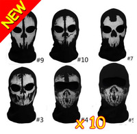 Call Of Duty 10 Balaclava Face Skull Mask Ghost Bike Skateboard Ski Airsoft Hood Cos Costume