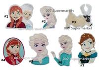 Assorted Mixed BIG Frozen Princess Elsa Anna Reindeer Sven Snow Queen Film TV MOVIE Girls Dress Embroideried Patch Logo Badge