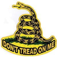 """10"""" SUPER LARGE GADSDEN Snake FLAG Don't Tread On Me BIKER JACKET BACK PATCH BIG WHOLESALE FREE SHIPPING"""