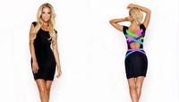 2014 New Summer Dress Women Criss Cross Back Bodycon Bandage Dress Sexy High Street Club Vestidos 9107