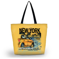 New York Soft Foldable Tote Women's Shopping Bag School Sport Beach Shoulder Bag Lady Handbag Pouch,light weight,washable