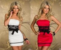 M L XL Size  Fashion Women Sexy Strapless Off Shoulder Mini dress Party Dress [Dropshipping] N131  New 2014