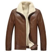 HOT !! 2014 New Warm Winter Sheepskin Men's Leather jacket Men Leisure Fur coat Brand luxury Real Leather coat Free shipping