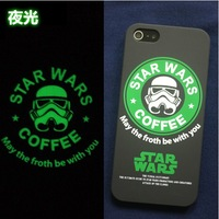 Classic STAR WARS print hard case for iphone5s 5 4s 4 ,The luminous star wars 3d design hard case for iphone
