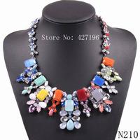 New 2014 fashion brand pendants Luxury bib multi acrylic pendant Necklace & pendant choker statement necklace for ladies