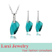 Luxury Big Stone  Crystal Jewelry Set Necklace Earring Set Fashion European Statement Jewelry 2014