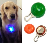 LED light dog pendant Safety and Anti-lost dog Tag flashing dog pendant