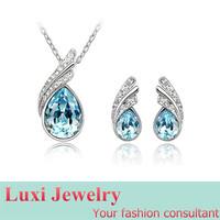 Fashion  Luxury  Crystal Jewelry Set Necklace Earring  Set Fashion European Statement Jewelry 2014