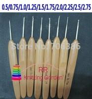 10pcs/set Bamboo Crochet Hooks Bamboo handle crochet hooks set , knitting needles, knitting tools