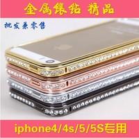 Luxurious Inset Rhinestone Bling Shine Frame for iPhone5 5s, CZ Diamond frame for iPhone5 5s ,blingbling shine frame for iPhone5