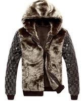 free shipping men's fur down jacket,Top Quality Mens Winter hooded warm Goose down jacket waterproof skiing jackets ,175