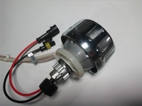 Free shipping ABD 12V 35W Motorcycle headlight / double optical lens / angel eyes and evil eye hid xenon projector lens light