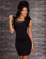 2014 new sexy lingerie  Supply high quality lingerie club suit clubwear dress N082 with metal chain