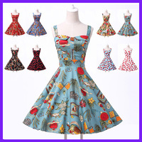 High Quality! Grace Karin Sweetheart Vintage Cotton 1950s 1960s Dresses CL6092