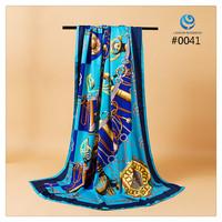 2014 Big Size 140x140cm Silk Square Scarf Women Fashion Brand High Quality Silk Satin Scarves silk Shawl Hijab Print #004
