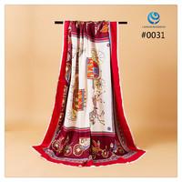 2014 Big Size 140x140cm Silk Square Scarf Women Fashion Brand High Quality Silk Satin Scarves silk Shawl Hijab Print #003