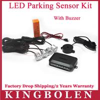 New Arrival 4 Sensors Buzzer 22mm Car Parking Sensor Kit Reverse Backup Radar Sound Alert Indicator Probe System 12V 10 Colors