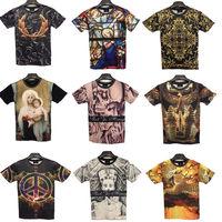Men printed 3d T-shirts Tops Fashion Summer man woman t shirts 2014 New Brand Short-sleeve Clothing Plus size FreeShipping