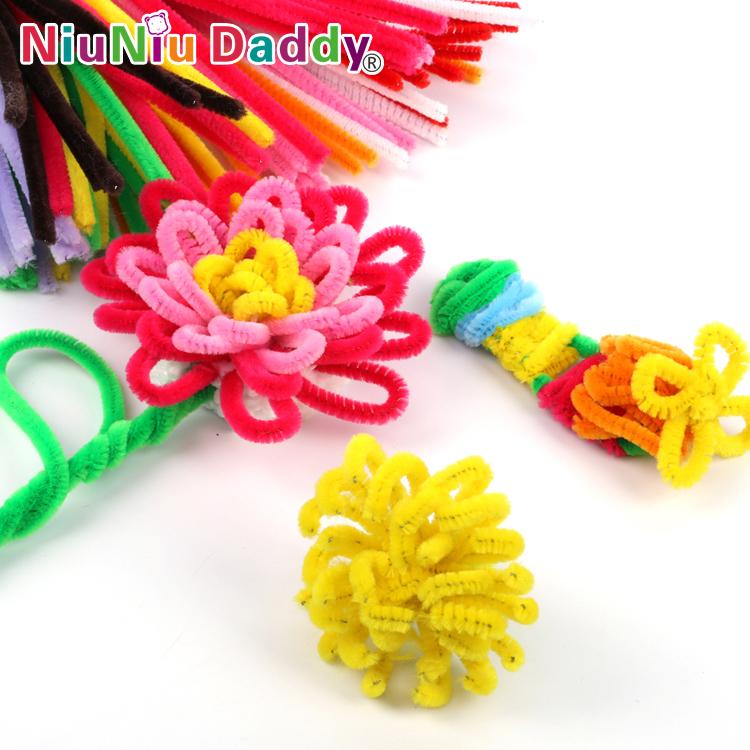 100pcs/set Children's Educational Toys DIY toys materials shilly-stick Plush Stick handmade art Christmas toys(China (Mainland))